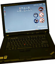 Lenovo T500 good battery with DAS XENTRY 12.2015 installed for star C4 SDConnect
