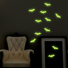 Halloween Bat Glow in the Dark Wall Stickers, Wall Decals, Wall Decoration Party
