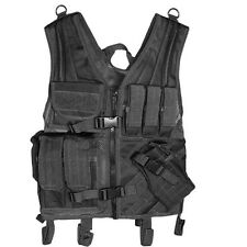 Assault Cross Draw Tactical Vest (Black) with Magazine Pouches and more!
