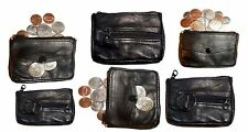 Lot of 6 Change purse, leather coin case, Little case w/ key ring iNew in packag