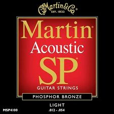 Martin SP Cordes Pour Guitare Acoustique En Bronze Phosphoreux MSP4100 Light 12