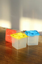 Set of 3 Square Paint Pots in Red, Yellow and Blue - great for painting!