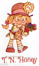 """4"""" STRAWBERRY SHORTCAKE T.N. HONEY VINTAGE  PREPASTED WALL BORDER CUT OUT"""