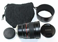 Rokinon 85M-E 85mm F1.4 Fixed Lens for Sony, E-Mount - VERY GOOD CONDITION