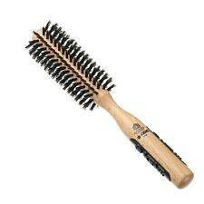 Kent PF04 Natural Bristle Hair Brush Round Radial for Curling & Shaping & Volume