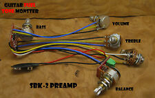 TONE MONSTER SBK-2 Bass Guitar Preamp Balance Volume Treble Bass 4 Pots +/-12dB