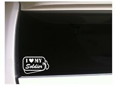 "I Love Soldier Dog Tags Vinyl Sticker Car Decal 6"" L80 Military Family Soldier"