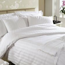 Ramco 500TC Egyptian Cotton Hotel Quality QUEEN Bed sheet Set in White Stripe