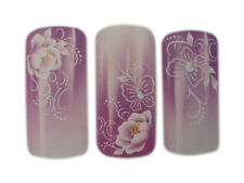 Roses and Butterflies Design Nail Art Wrap Water Decals Natural/False Nails
