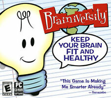 BRAINIVERSITY  Keep Your Brain Fit and Healthy  Win XP VISTA 7 Brand New Sealed