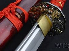 Hand Forged Razor Sharp Japanese Sword Red Dragon Tsuba Katana + Customization