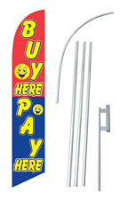 Buy Here Pay Here Windless Swooper Flag Kit
