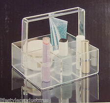 NEW US ACRYLIC CLEAR PERFECT LITTLE BASKET ORGANIZER HOLDER 4525 MOTHERS DAY