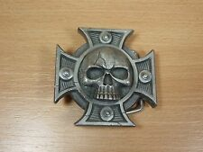 WARHAMMER BULLDOG BELT BUCKLE CRUX TERMINATUS GAMES WORKSHOP MINT (424)
