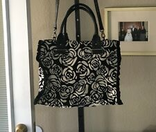 Jessica Simpson - tapestry bag purse black and white