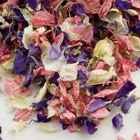 Biodegradable Real Dried Delphinium Petal Confetti in Small Organza Bags