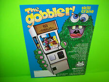SMS The Gobbler b/w Skill Crane Original Arcade Claw Prize Game Sales Flyer Adv.