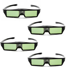 4 Pcs 3D IR Active Shutter Glasses For BenQ W1070 W700 W710ST DLP-Link Projector
