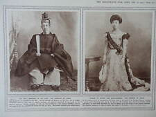 1915 CORONATION OF EMPEROR YOSHIHITO OF JAPAN WWI WW1 DOUBLE PAGE