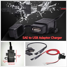 Waterproof Motorcycle 2.1A SAE to USB Charger Adaptor Extension Harness Kit Fuse