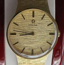 "1950's Omega dress watch 14kt yellow gold manual wind L 49.4gr 7.5"" #N585"