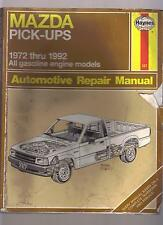 Mazda Pick Ups 1972-1992 Auto Automotive Repair Manual / VERY DIRTY AND WORN OUT