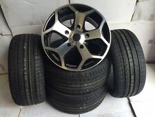 "18""black pol Ford Transit Alloy Wheels-Commercial Van MK6 /MK7/MK8-st with tyres"