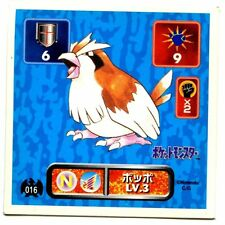 POKEMON STICKER Carte JAPANESE 50X50 1995 NORMAL N° 016 Roucool Pidgey
