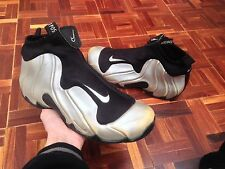 2000 Nike Air Flightposite B ��Mens Size 9 Silver Black 624015-001 Foamposite
