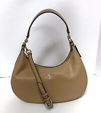 COACH Harley Hobo East West Leather Handbag Shoulder Bag 38250 Beechwood Tan New