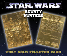 STAR WARS Bounty Hunters Genuine 23K GOLD CARD * $4.95 Officially Licensed