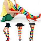 Fasfion Ladies Girl Colorful Polyester Over Knee Stocking Rainbow high Tigh Sock