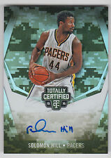 SOLOMON HILL 2015-16 Panini Totally Certified  AUTO Mirror Camo #/25 Pacers