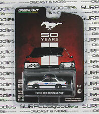 GREENLIGHT 1:64 Anniversary Series 2 White 1993 FORD MUSTANG SSP Police Car