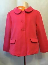 New/Tags 4T-5T Gymboree Girl's Fully Lined Bright Pink 3 Button Jacket