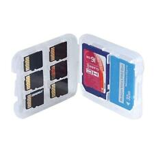 2x 8 Slots Micro SD TF SDHC MSPD Memory Card Protecter Box Storage Case Holder m