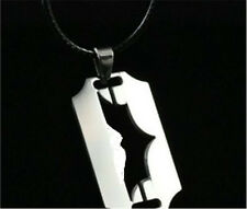 Batman blade Womens Men's Silver 316L Stainless Steel Titanium Pendant Necklace