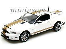 COLLECTIBLES 2012 FORD SHELBY GT 500 SUPER SNAKE 1/18 WHITE with GOLD STRIPES
