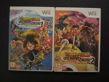 LOT 2 JEUX ONE PIECE UNLIMITED CRUISE 1 + 2 pour console WII et U PAL FR COMPLET