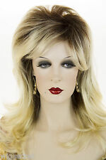 Feathered Flipped Up Ends Medium Long Blonde Brunette Red Straight / Wavy Wigs