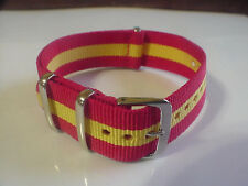 RED/Yellow SKUNK BOND NATO  22mm Military strap band fits ZULU Time Watch &othes