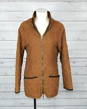 BARBOUR L763 QUILT JACKET womens brown jacket SIZE EU-40  UK-14  USA-10 suede