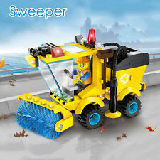 102 Pcs City Road Sweeper Building Blocks With Mini Figure Puzzle Toys Xmas Gift