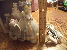 Precious Moments Elephant Night Light Baby Lets Keep In Touch 1993 Working + Box