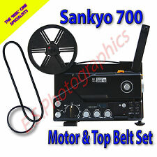 SANKYO 700 Sound 8mm CINE PROIETTORE Cinture Set di 2 (Motore Principale & pulegge superiore)