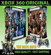 XBOX 360 OLD SHAPE HORROR MONTAGE VILLAINS EVIL DARK STICKER SKIN & 2 PAD SKIN