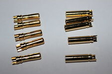 5x Paare YUKI MODEL Goldkontakt 4 mm  Buchse & Stecker 600088+600087 Car,Rc