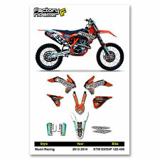 2013-2014 KTM SX/SXF Team Munn Racing Motocross Graphics Dirt Bike Graphic Decal