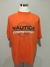 Rare Vintage 90's Nautica Competition Spell Out Tee Shirt Sz 2XL Made In USA