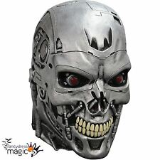 *Adult Official Terminator Latex Endoskull T-800 Cyborg Genisys Full Head Mask*